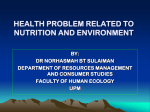 PHYSICAL And mental health problem towards nutrition