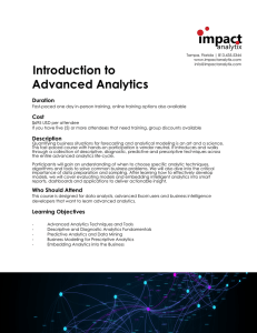 Introduction to Advanced Analytics