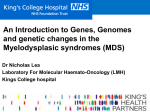 what is our genome - MDS UK Patient Support Group
