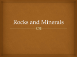 Rocks and Minerals - ACMS Bullpup Science