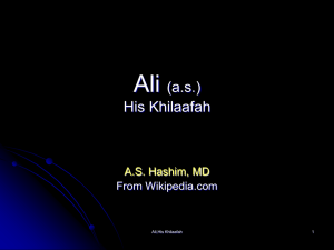 Ali: His Khilaafah - Islamicbooks.info