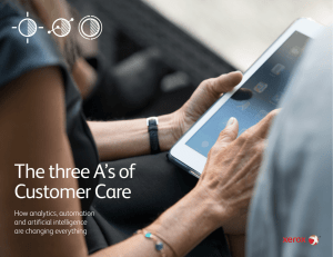 The three A`s of Customer Care