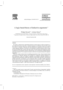 A logic-based theory of deductive arguments