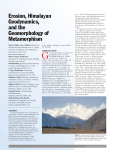 Erosion, Himalayan Geodynamics, and the Geomorphology of