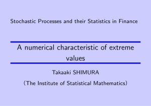 A numerical characteristic of extreme values