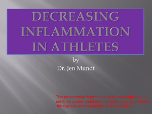 Decreasing Inflammation