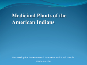 Medicinal Plants of North America - Partnerships for Environmental
