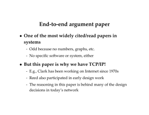 End-to-end argument paper