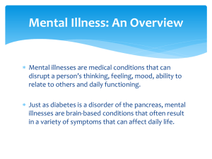 Overview of Mental Illness PowerPoint