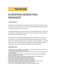 EUROPEAN MARKETING MANAGER