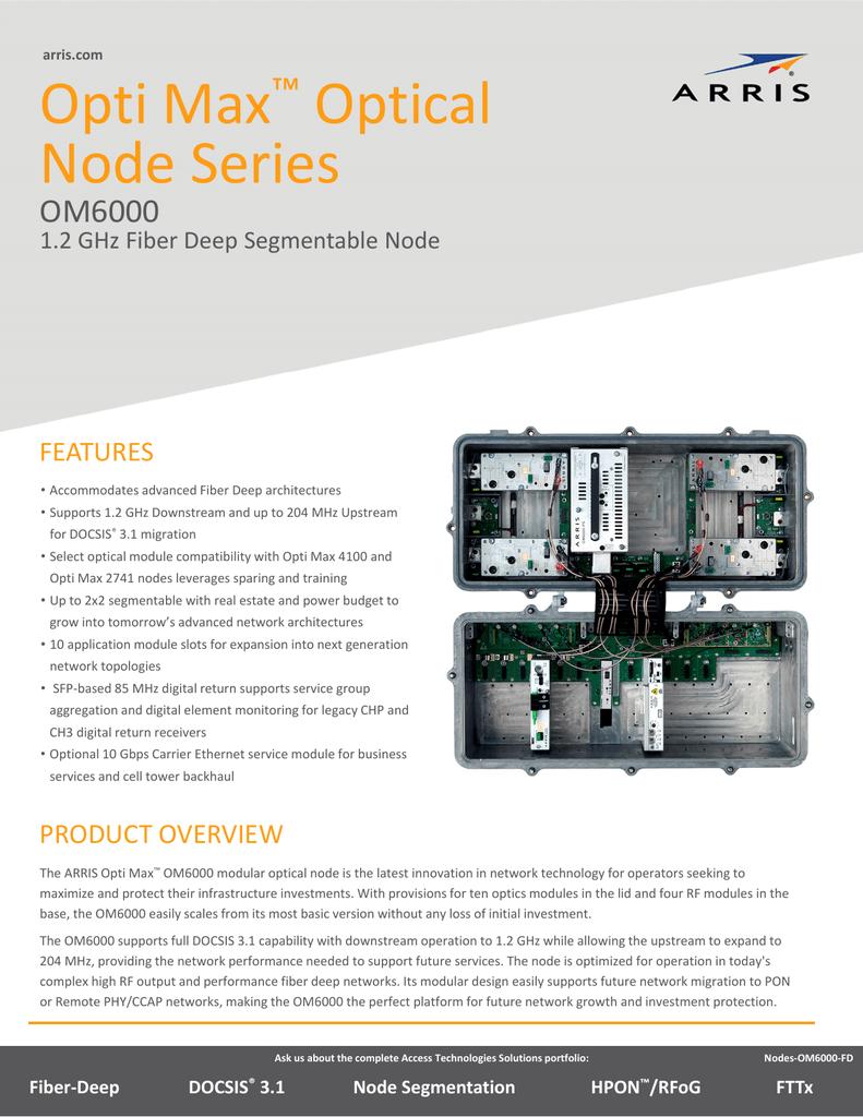 PDF OM6000 Opti Max 1 2 GHz Fiber Deep Segmentable Node