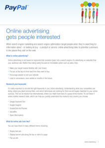 Online advertising gets people interested