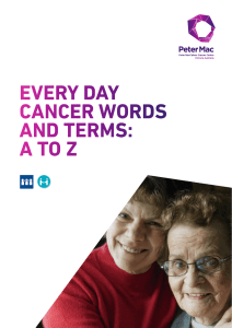 every day cancer words and terms: a to z