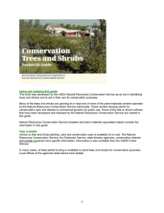 Conservation Trees and Shrubs Woody Pocket Guide