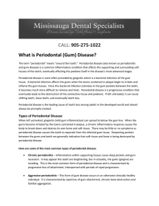 CALL: 905-275-1022 What is Periodontal (Gum) Disease?