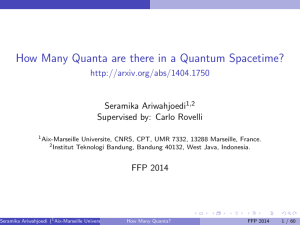 How Many Quanta are there in a Quantum Spacetime?
