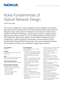 Nokia Fundamentals of Optical Network Design