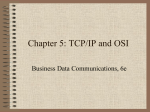Chapter 4 : TCP/IP and OSI