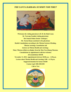 THE SANTA BARBARA SUMMIT FOR TIBET