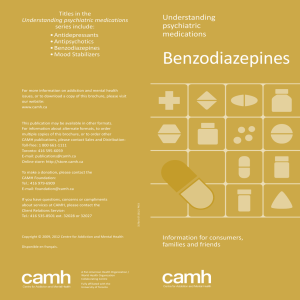Understanding psychiatric medications: Benzodiazepines
