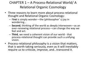 CHAPTER 1 * A Process-Relational World/ A Relational Organic