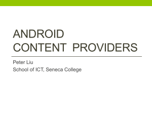 Android UI Develop and Design - Seneca ICT