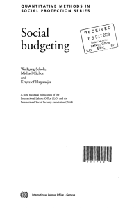 Social budgeting - Social Protection Platform