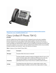 Cisco Unified IP Phone 7941G