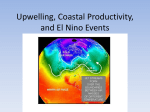 Upwelling, Coastal Productivity, and El Nino