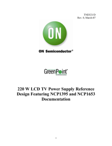 220 W LCD TV Power Supply GreenPoint® Reference Design