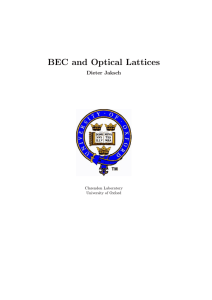BEC and Optical Lattices