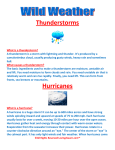 Thunderstorms Hurricanes