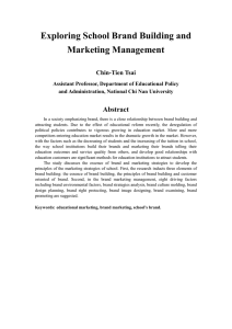 Exploring School Brand Building and Marketing Management