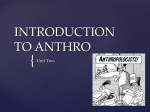 INTRODUCTION TO ANTHRO