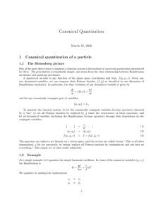 Canonical Quantization