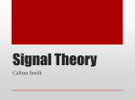 Signal Theory - Unit 10 - Communication Technology