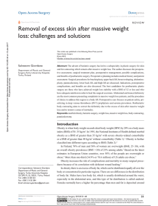 Removal of excess skin after massive weight loss