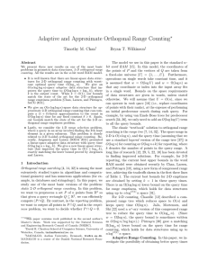 Adaptive and Approximate Orthogonal Range Counting