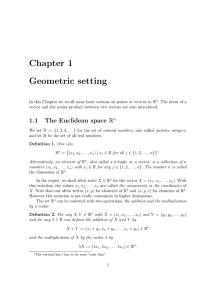 Chapter 1 Geometric setting