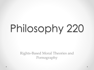 Rights-Based Moral Theory and Pornography