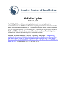 Guideline Update - American Academy of Sleep Medicine