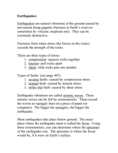 notes earthquakes