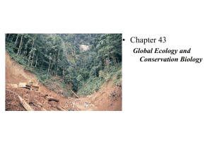 Global Ecology and Conservation Biology