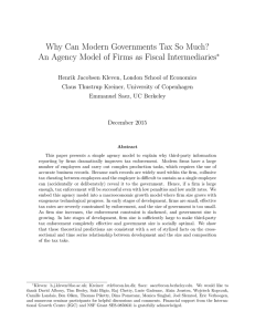 Why Can Modern Governments Tax So Much? An Agency Model of