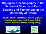 Biological Oceanography at the University of Hawaii