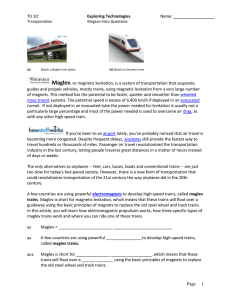MagLev Intro Questions - Super Substitute Teachers