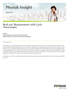 Real-ear Measurement with Lyric