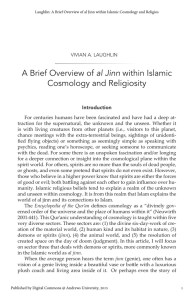 A Brief Overview of al Jinn within Islamic Cosmology and Religiosity