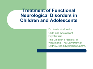 Treatment of Functional Neurological Disorders in Children and