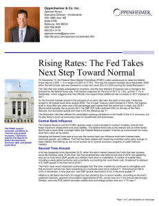 Rising Rates: The Fed Takes Next Step Toward Normal